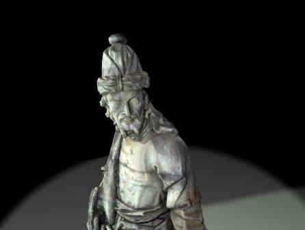 Imagem em 3d do profeta Joel de aleijadinho digitalizada em congonhas
