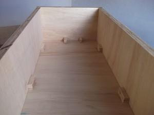 montagem das paredes da caixa acústica