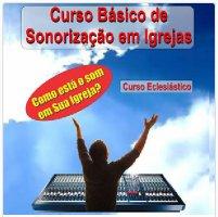 capa da apostila do curso de sonorização de igrejas