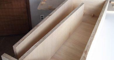 montagem da divisória interna da caixa acústica
