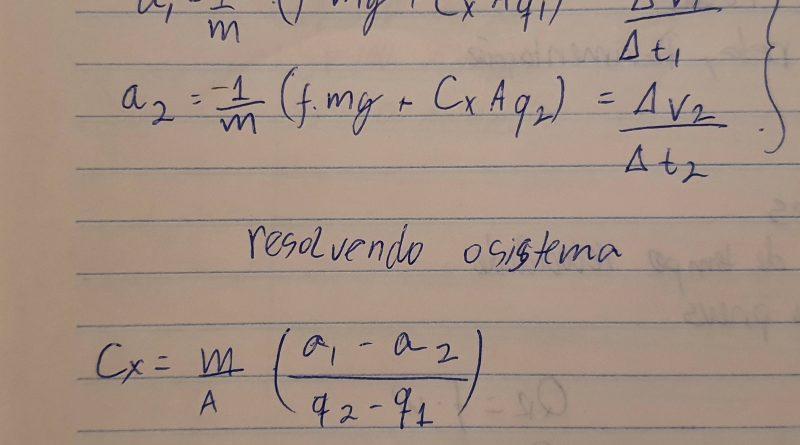 pagina com calculos metamáticos de engenharia