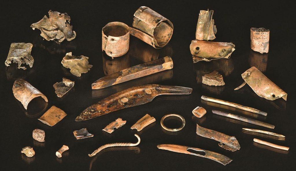 artefatos de batalha da idade do Bronze
