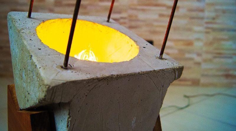 Luminaria de cimento
